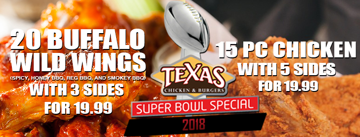 Super Bowl Event. You can't lose with 2 great deals.