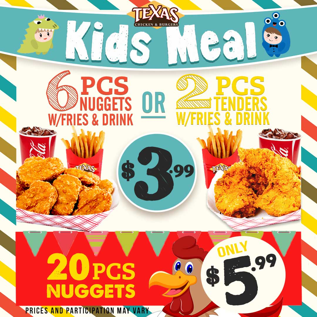 Texas Chicken And Burgers december kids special promotion