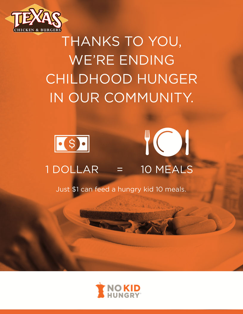 No Kid Hungry: 1 Dollar = 10 Meals