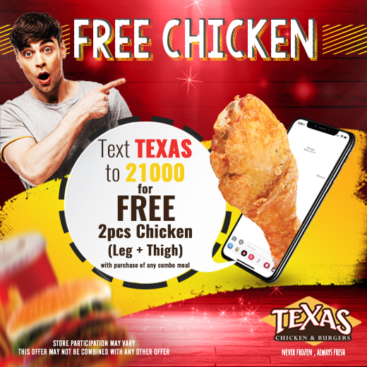 Free Chicken Offer Texas Chicken And Burgers