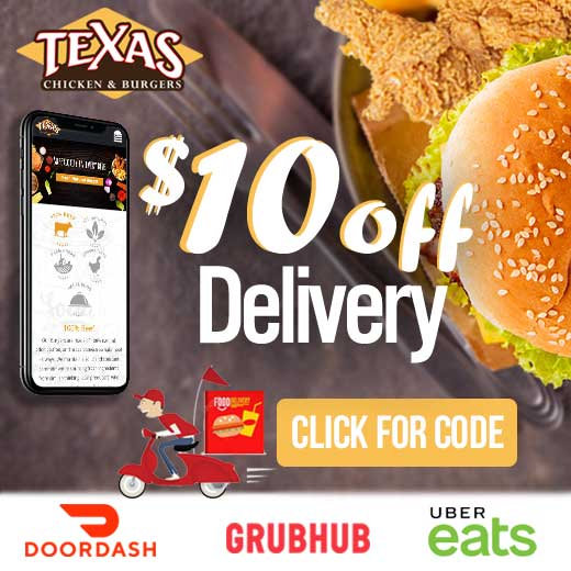 Texas Chicken And Burgers  - $10 off Special